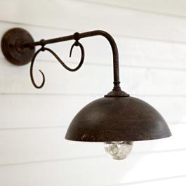 Wandlamp voor buiten Lupia donkerbruin