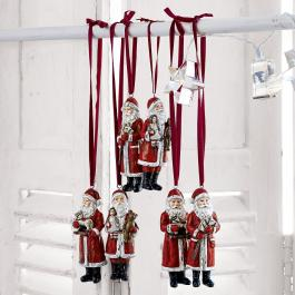 Kerstman set van 6 Corvin
