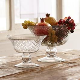 Glazen schaal set van 2 Kadence