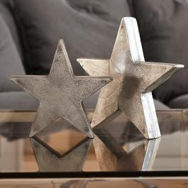 Decoratie ster set van 2 Big Star