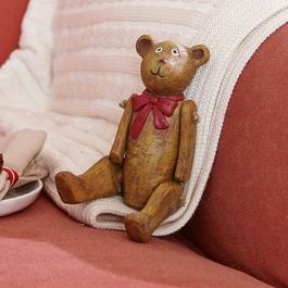 Decoratiebeer set van 2 Bruno & Winnie bruin