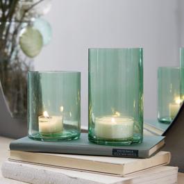 Windlicht set van 2 Turquoise
