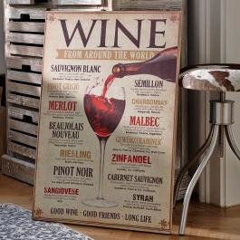 Decoratie board Winecard