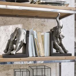 Boekensteun, set van 2 Elephants