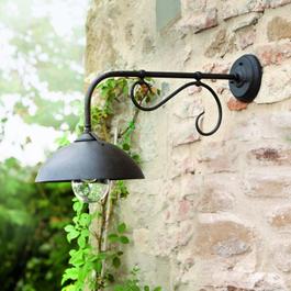 Wandlamp voor buiten Lupia zwart