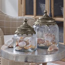 Glazen potten set van 2 Laféline