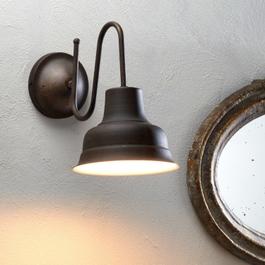 Wandlamp Sidney bruin/wit