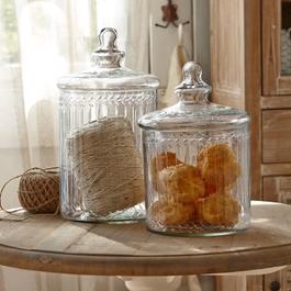 Glazen potten set van 2 Maledisant