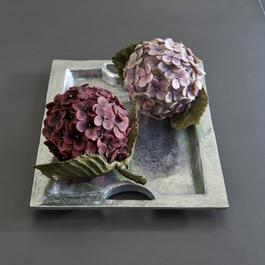 Decoratiebloem set van 2 Hortensie
