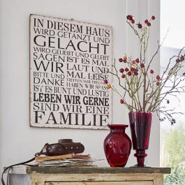 Decoratie board Familie