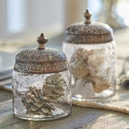 Glazen potten set van 2 Laurnena