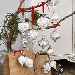 Kerstversiering set van 6 Appilly