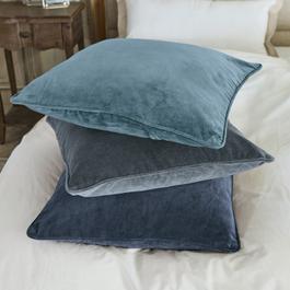 Kussen set van 3 Amalina blauw/lichtblauw/grijs