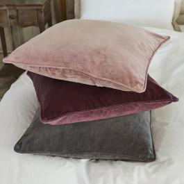 Kussen set van 3 Amalina rood/roze/grijs