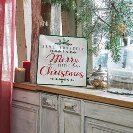 Decoratie schild Merry Merry