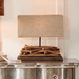 Tafellamp Caribou bruin/linnen