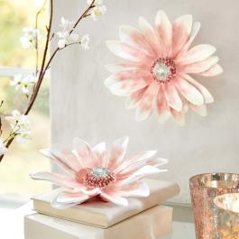 Decoratieve bloem, set van 2 Lisieux