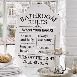 Decoratief board Bathroom