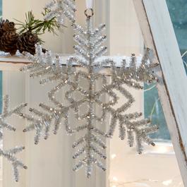 Kerstversiering set van 5 Snowflake
