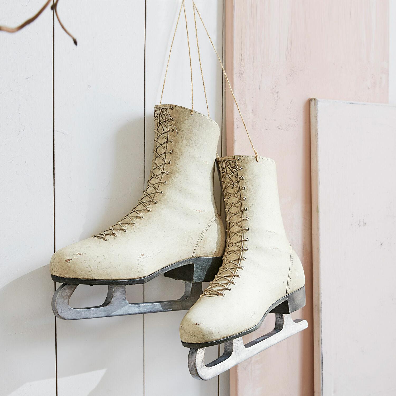 Decoratieve schaats set van 2 Thibaud