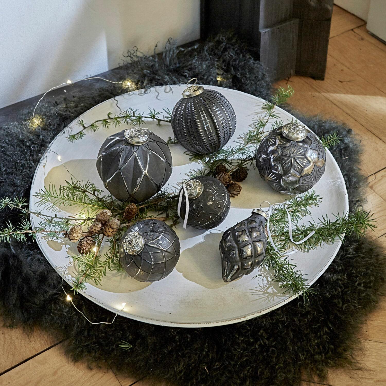 Kerstversiering set van 6 Villeurs