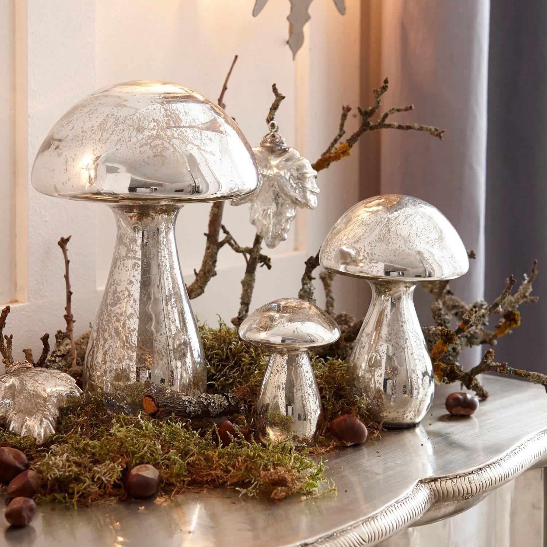 Decoratiepaddenstoel set van 3 P�rigord