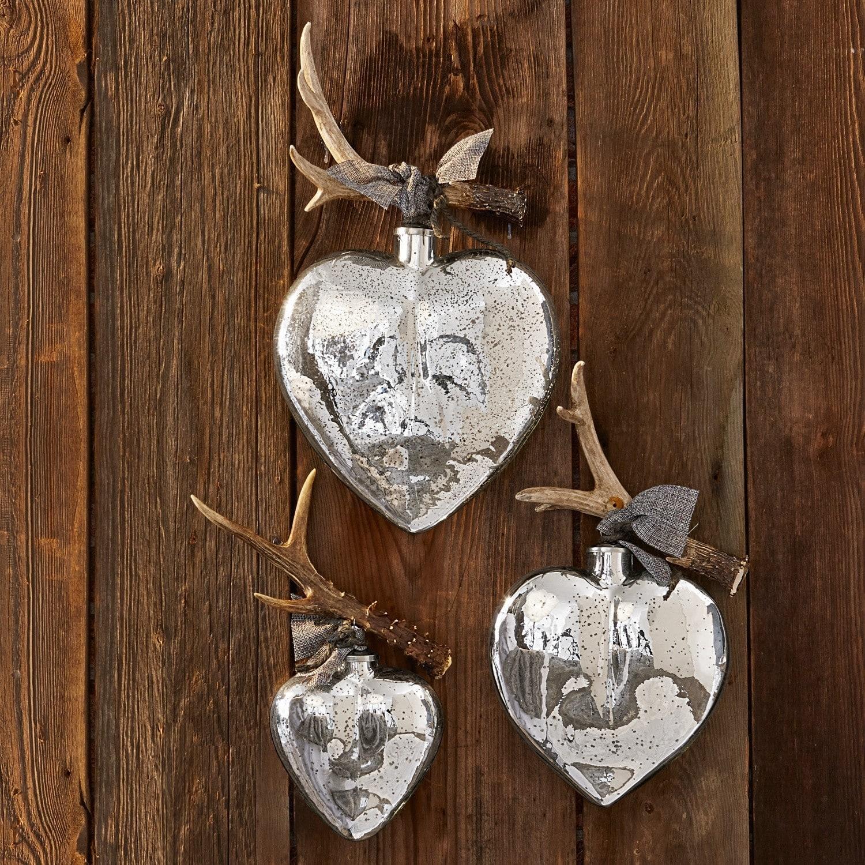 Kerstversiering set van 3 de bon coeur