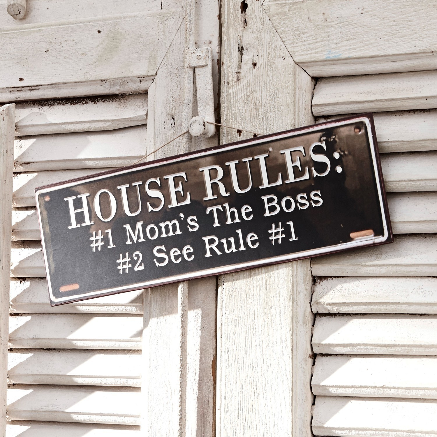 Decoratieboard Rules for Life