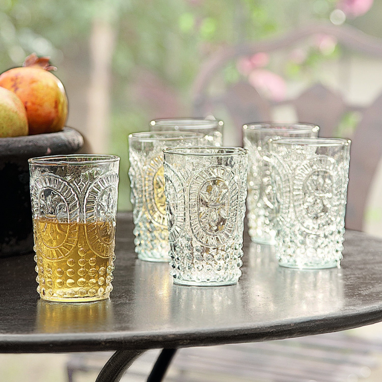 Glazen set van 6 Fleury