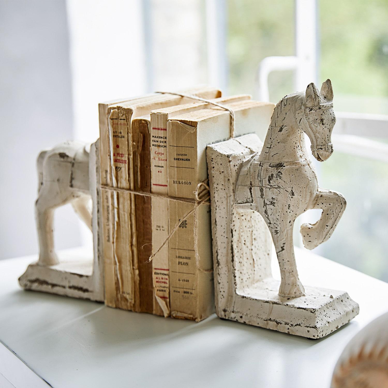 Boekensteun set van 2 Horses LOBERON Decoratie terracotta