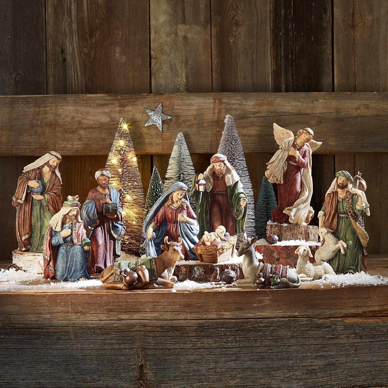 Kerststalfiguren set van 11 Christi