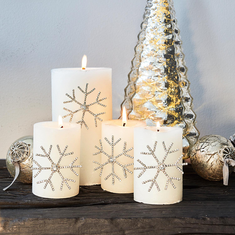 Decoratiepin set van 4 Alex LOBERON Kerstdecoratie ijzer, Ornament: glas