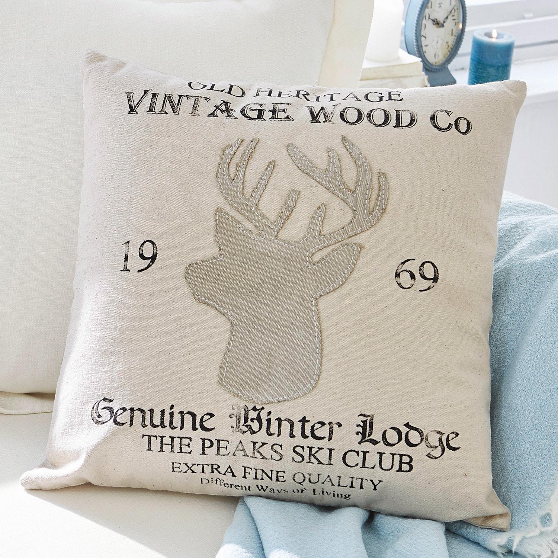 Kussen Vintage Wood