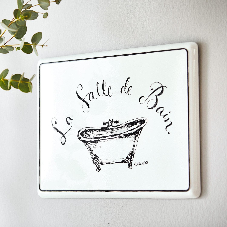 Decoratief schildje La salle de bain