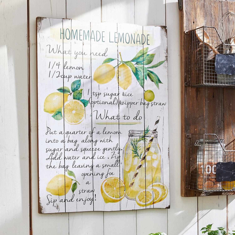 Decoratiebord Lemonade