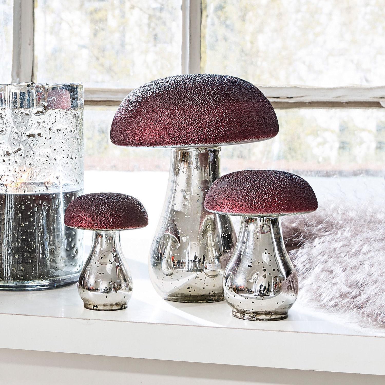 Decoratiepaddenstoelen set van 3 Vejolles