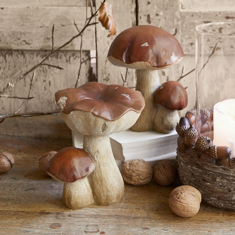 Decoratiepaddenstoel set van 2 Beenie