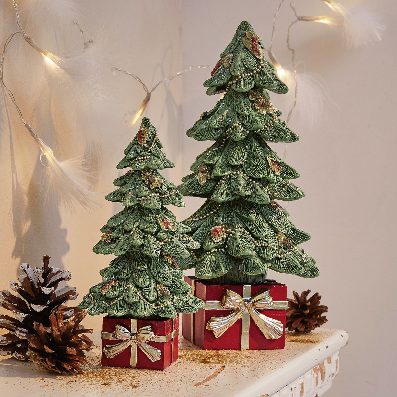 Decoratieve kerstboom, set van 2 Verne