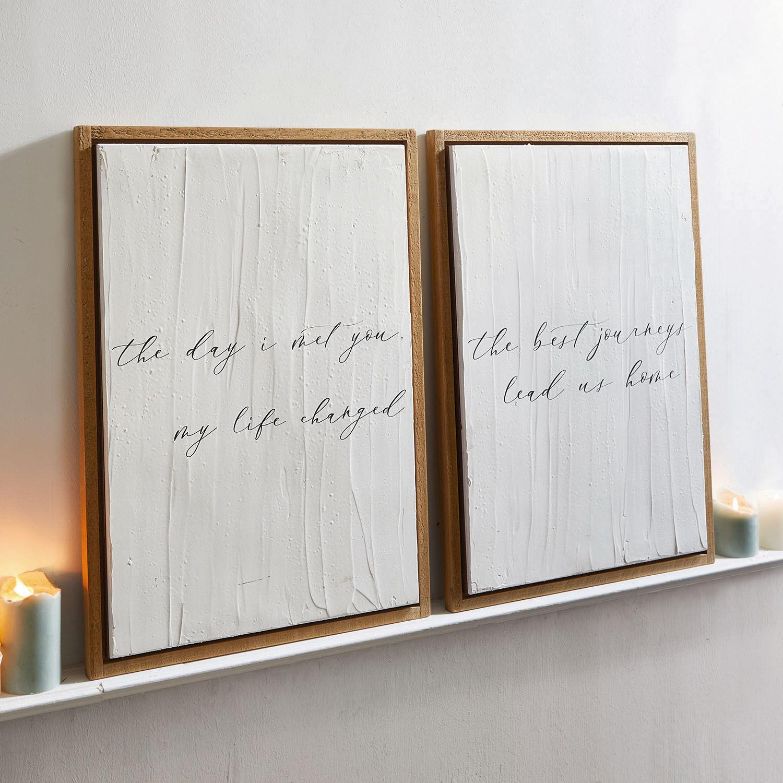 Decoratieboard, set van 2 Nawel