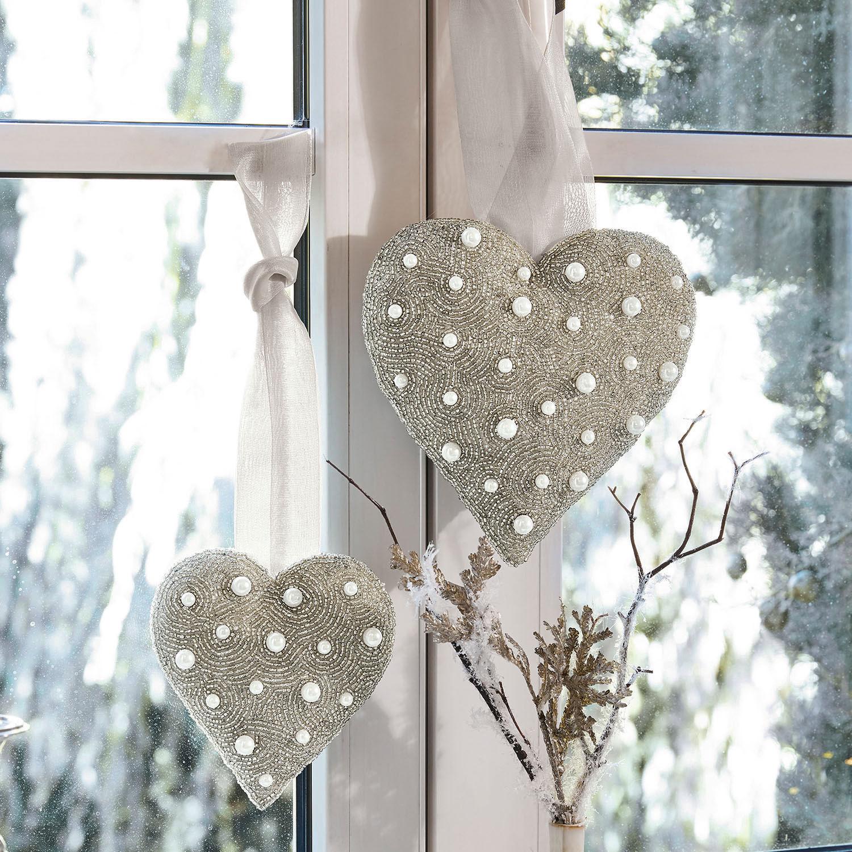 Decoratief hart, set van 2 Houdan