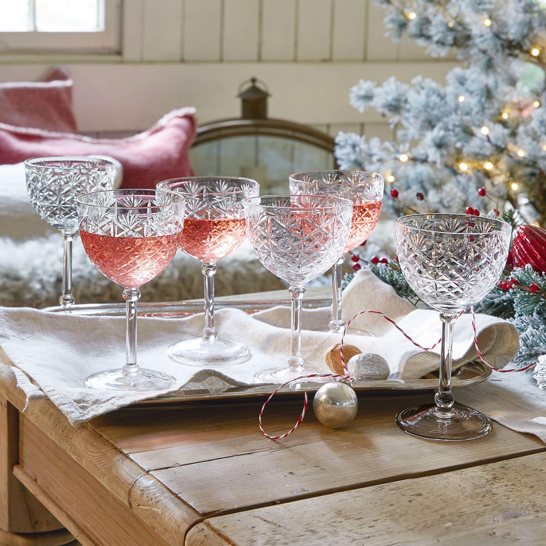 Champagneglas, set van 6 Olite