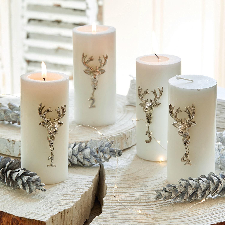 Decoratiepin set van 4 Charre