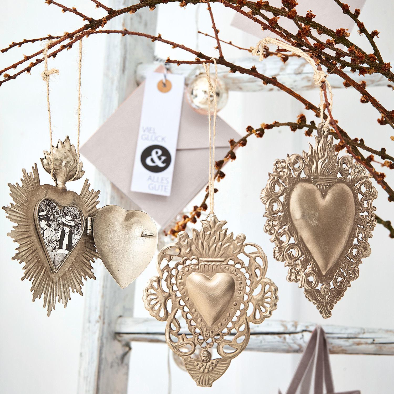 Decoratie ornament set van 3 Alexain