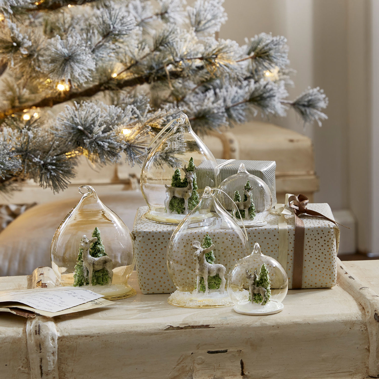 Kerstversiering, set van 5 Winterforest
