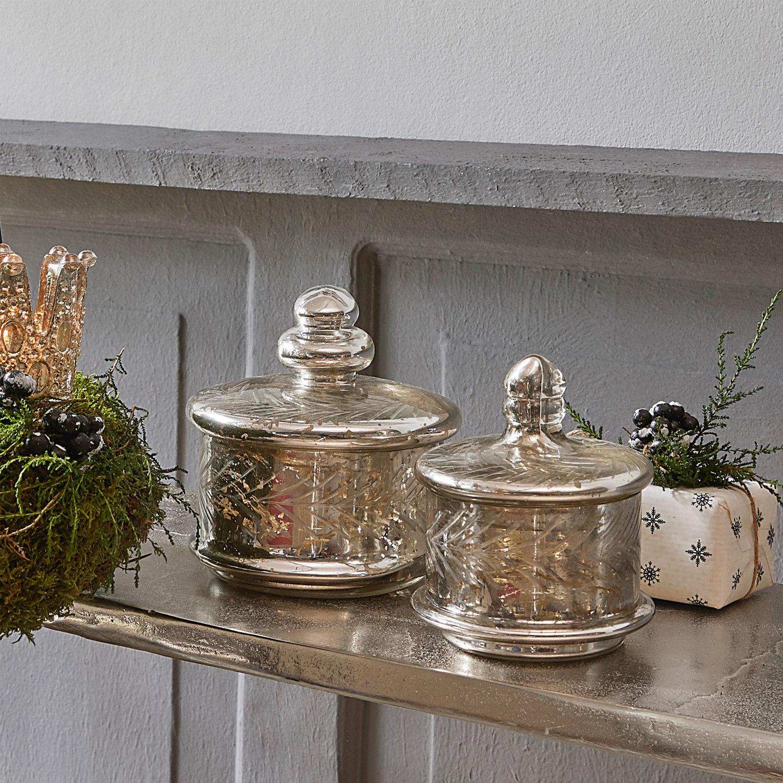 Glazen potten set van 2 Elexa