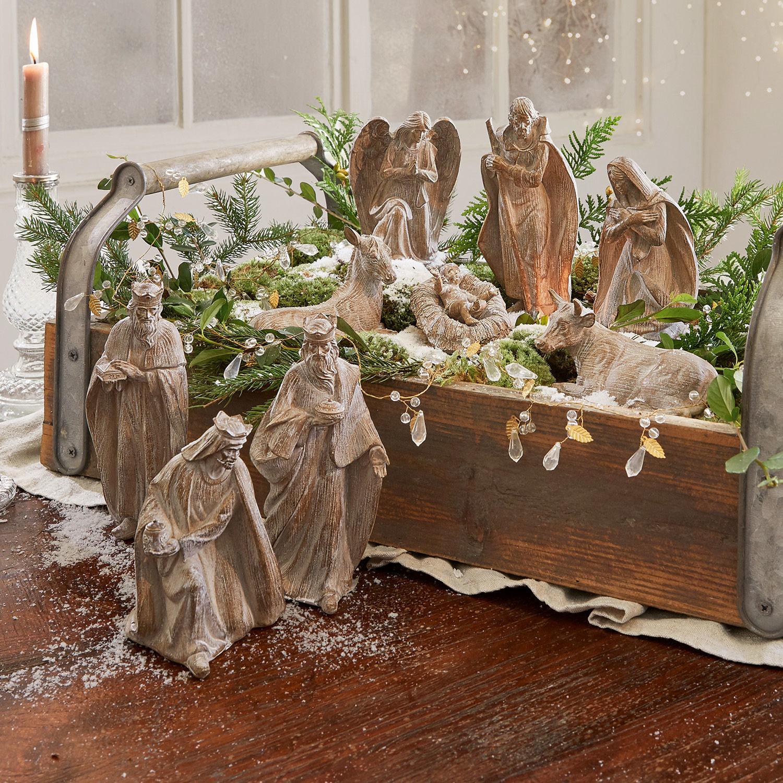 Kerststalbeeldje set van 9 Tongsa