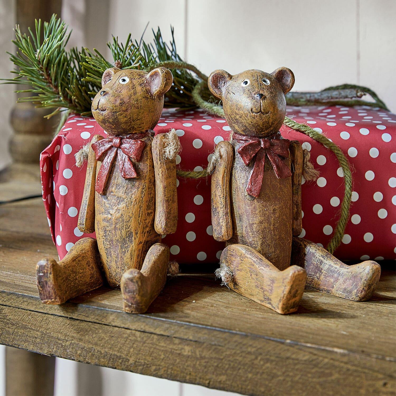 Decoratiebeer set van 2 Bruno & Winnie