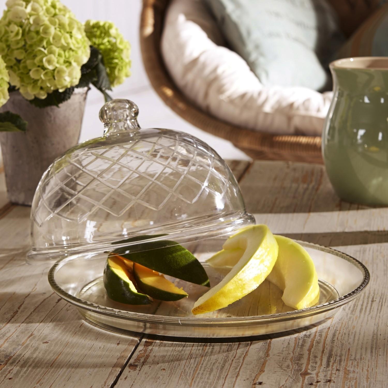 Glazen stolp op bord set van 4 Darlington